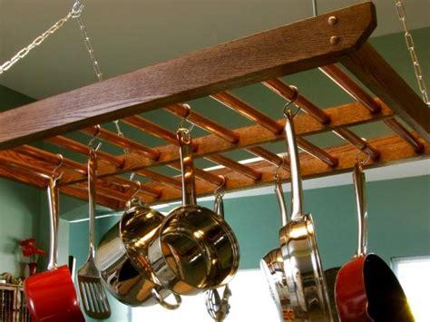 build  hanging pot rack  tos diy