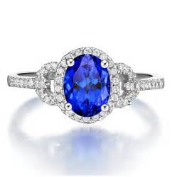 engagement rings on sale just 1 carat blue sapphire and halo engagement ring on sale jewelocean