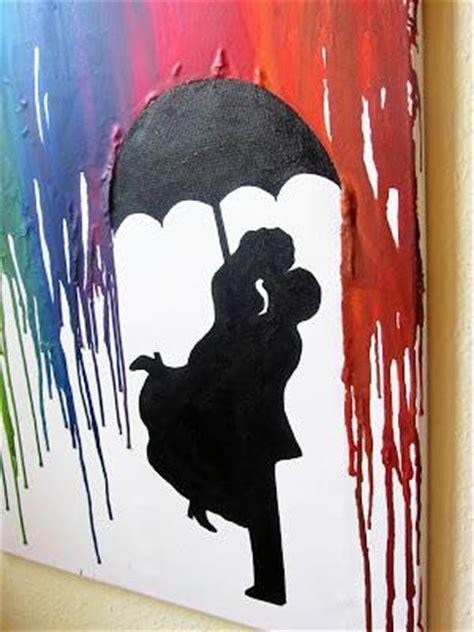 crayon art paerchen im regen