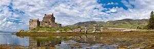 Beautiful panorama of the Eilean Donan Castle [6215x1983 ...