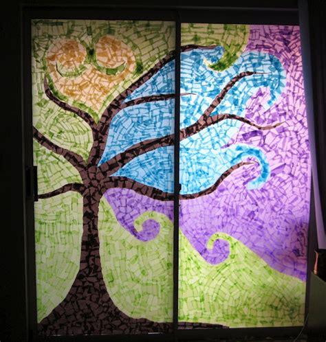 window mosaic fun family crafts