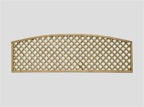Curved Garden Trellis by Continental Trellis Curved Lattice Fence Trellis