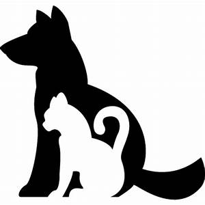 Dog and cat silhouettes together ⋆ Free Vectors, Logos ...