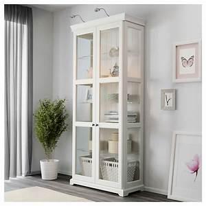 LIATORP Glass Door Cabinet White 96 X 214 Cm IKEA