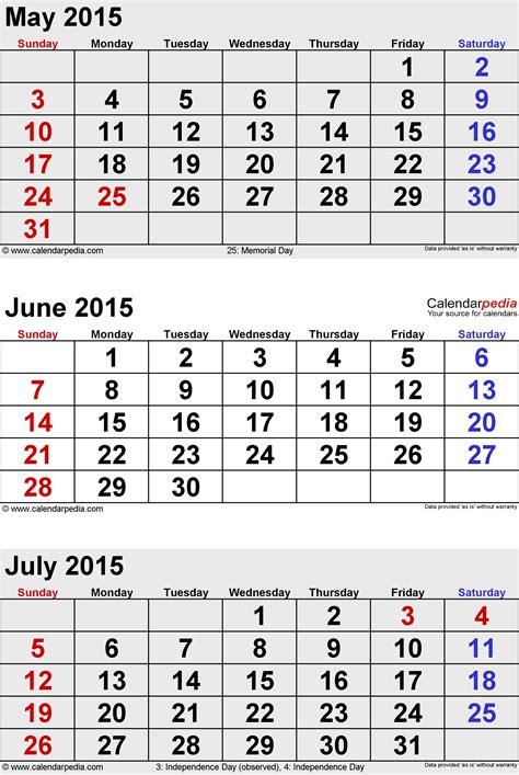 july  calendar templates  word excel