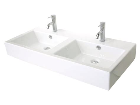 White Bathroom With Trough Sink For Two Traditional Ideas