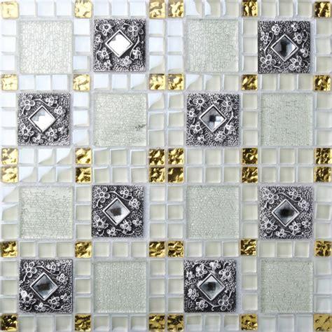 tst glass mental tile mosaic glass tile white and black