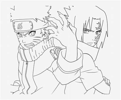 Naruto Coloring Sasuke Shippuden Drawing Sasunaru Transparent