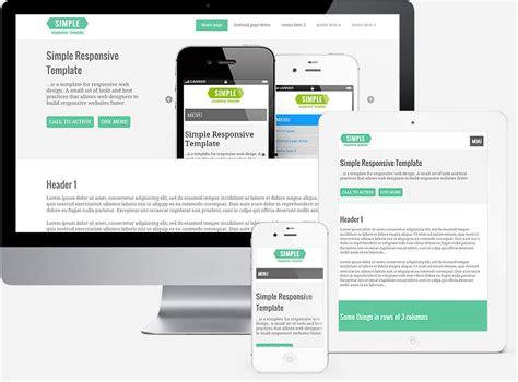 responsive html template simple responsive template template for responsive web design
