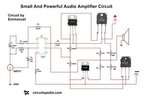 4558 ic circuit diagram audio power lifier