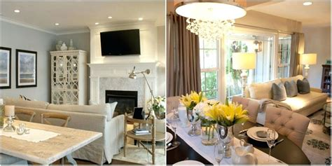 Beautiful Living Room And Dining Combination