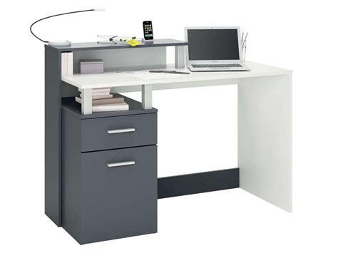 pc de bureau leclerc bureau 120 cm oracle coloris blanc gris vente de bureau