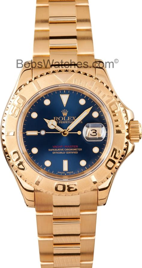 Rolex Yachtmaster 18k Gold 16628 Pre-Owned - Find Best Deals
