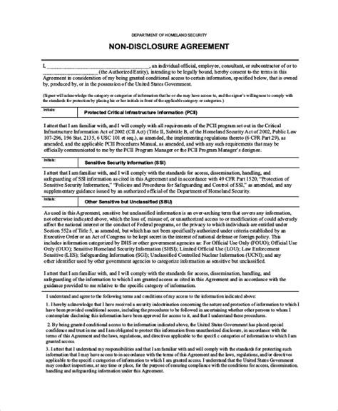 sample  disclosure agreement templates