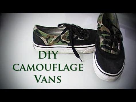 diy camouflage vans shoes