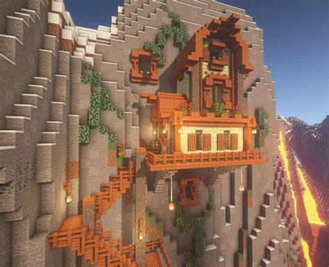 acacia mountain house cute minecraft houses minecraft