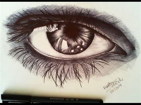 speed drawing eye ballpoint  youtube