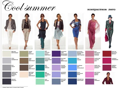 cool summer color palette cool summer pallette on soft summer summer