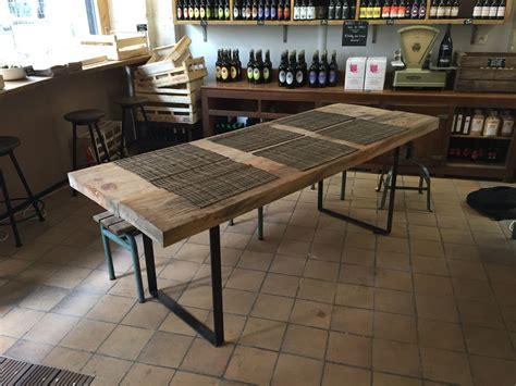 pieds de table rectangulaires en acier plat pour table haute ou console