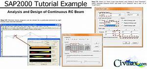 Sap2000 Tutorial Example  Analysis And Design Of