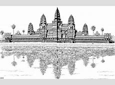 Geography for Kids Cambodia Angkor Wat coloring pages