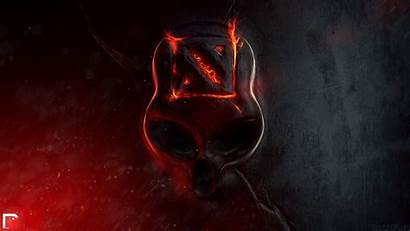 Skull Fire Wallpapers Flaming Dota Skulls 1080p