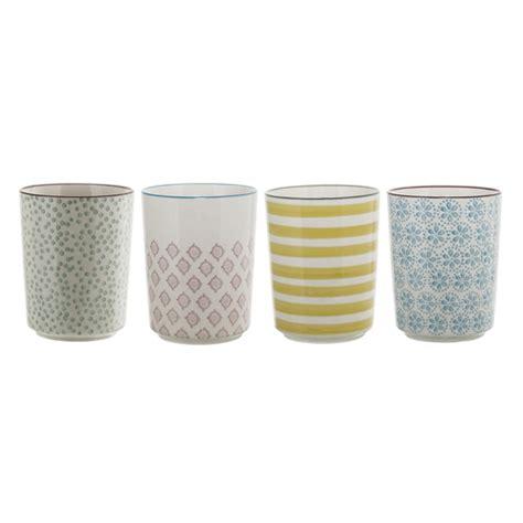 Bicchieri In Ceramica by Set Di 4 Bicchiere Patrizia In Ceramica Decorata Di