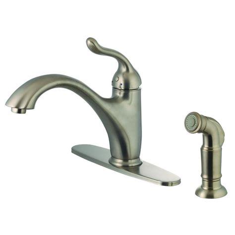 brushed nickel single handle kitchen faucet yosemite home decor single handle standard kitchen faucet with side sprayer in brushed nickel