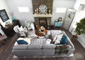 My Home Style Before and After: Modern Boho Country Living Room   The DIY Mommy