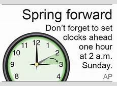 Spring ahead Lose an hour Just change your clocks