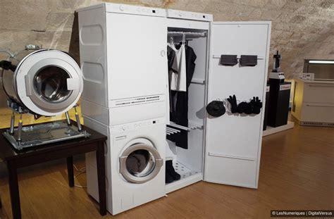 machine a laver seche linge combine une mini buanderie chez asko