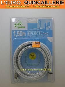 Flexible De Douche : flexible de douche pvc tuyau biflex blanc 1 5 m tre ~ Premium-room.com Idées de Décoration