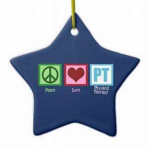 Blue Physical Therapy Double Sided Star Ceramic Christmas