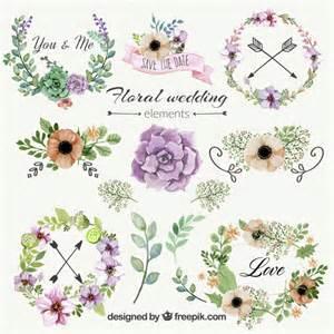 wedding ornaments floral wedding ornaments vector free