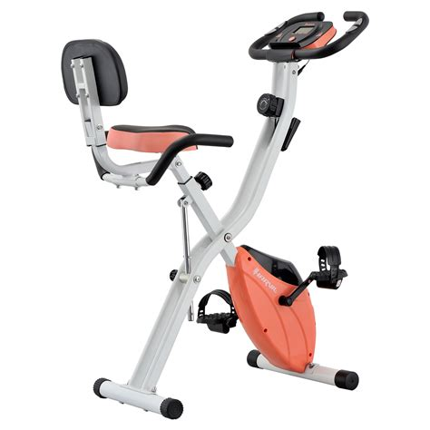 Harvil Foldable Magnetic Exercise Bike with Adjustable ...