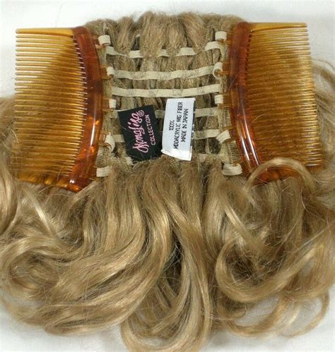 short curly ponytail  interlocking comb hairpiece
