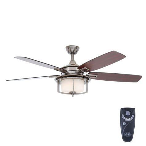 home depot remote control ceiling fans hton bay devereaux ii 52 in indoor gunmetal ceiling