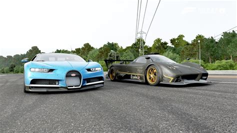 As far as top speed goes, the chiron will reach 261 mph. Bugatti Chiron 2018 VS Pagani Zonda R - YouTube