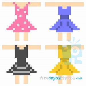 Pixel Art Dress Stock Image - Royalty Free Image ID 100425658