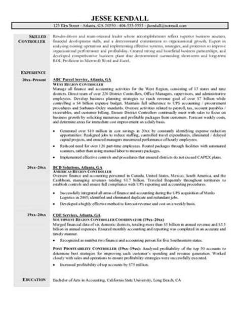 Title Resume File by Controller Resume Objective