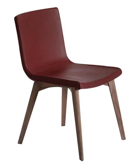 chaise design en noyer quadro