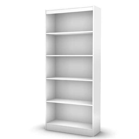 Axess Collection 5 Shelf Bookcase Pure White