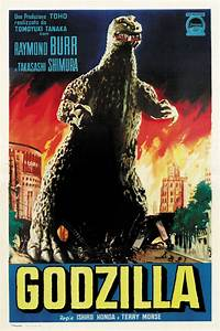 Godzilla King of the Monsters 1956 horror movie poster ...