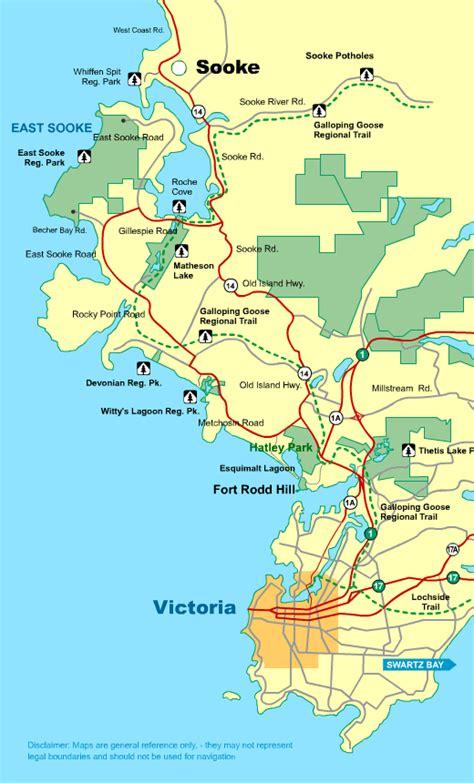 map victoria  sooke vancouver island bc canada seattle