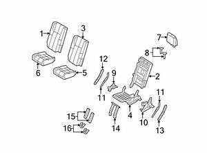 Ford Expedition Folding Seat Latch  Upper  Lower   Wpower  Row  Seats
