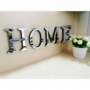 wedding love letters english 3d mirror wall stickers With home wall art letters