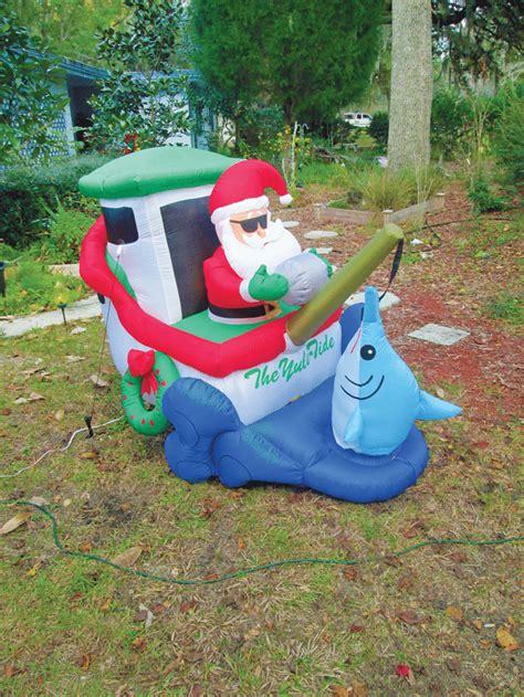santa fishing waters ornaments christmas florida fishermen