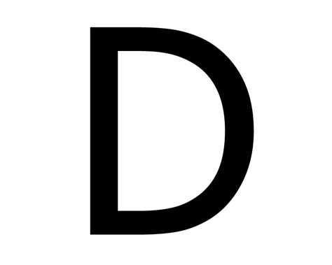 Letter D From Metal Solid Alphabet