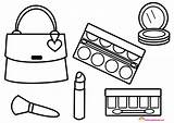 Makeup Coloring Pages Glitter Print Printable Cosmetic Getdrawings Getcolorings sketch template