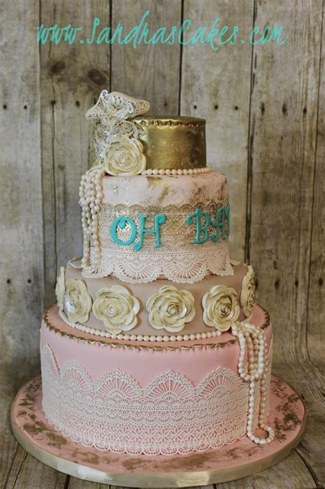 shabby chic baby shower cakes vintage shabby chic baby shower cake